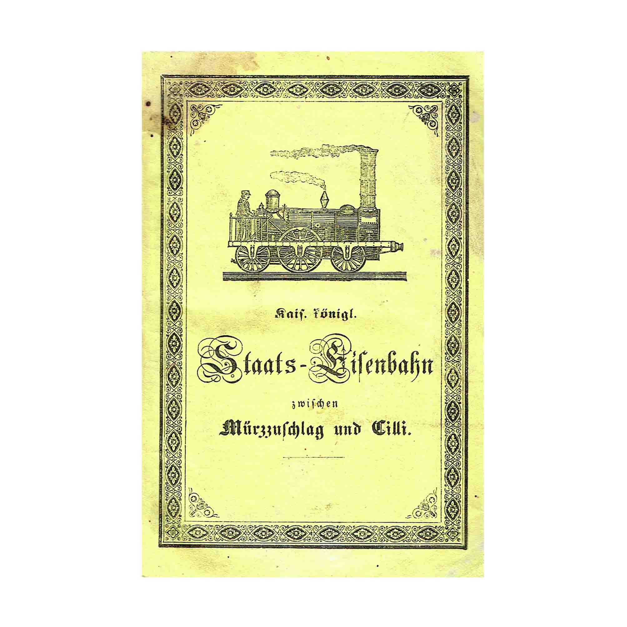 6068 Südbahn Führer Mürzzuschlag Cilli 1846 Umschlag N