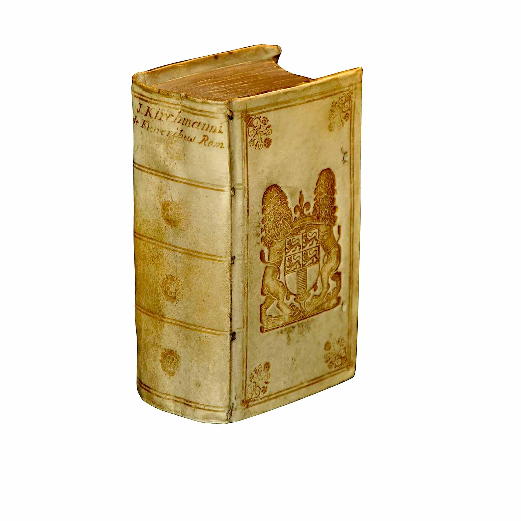 5897K Kirchmann De Funeribus Romanorum Prize Binding Provenance 1672 free N
