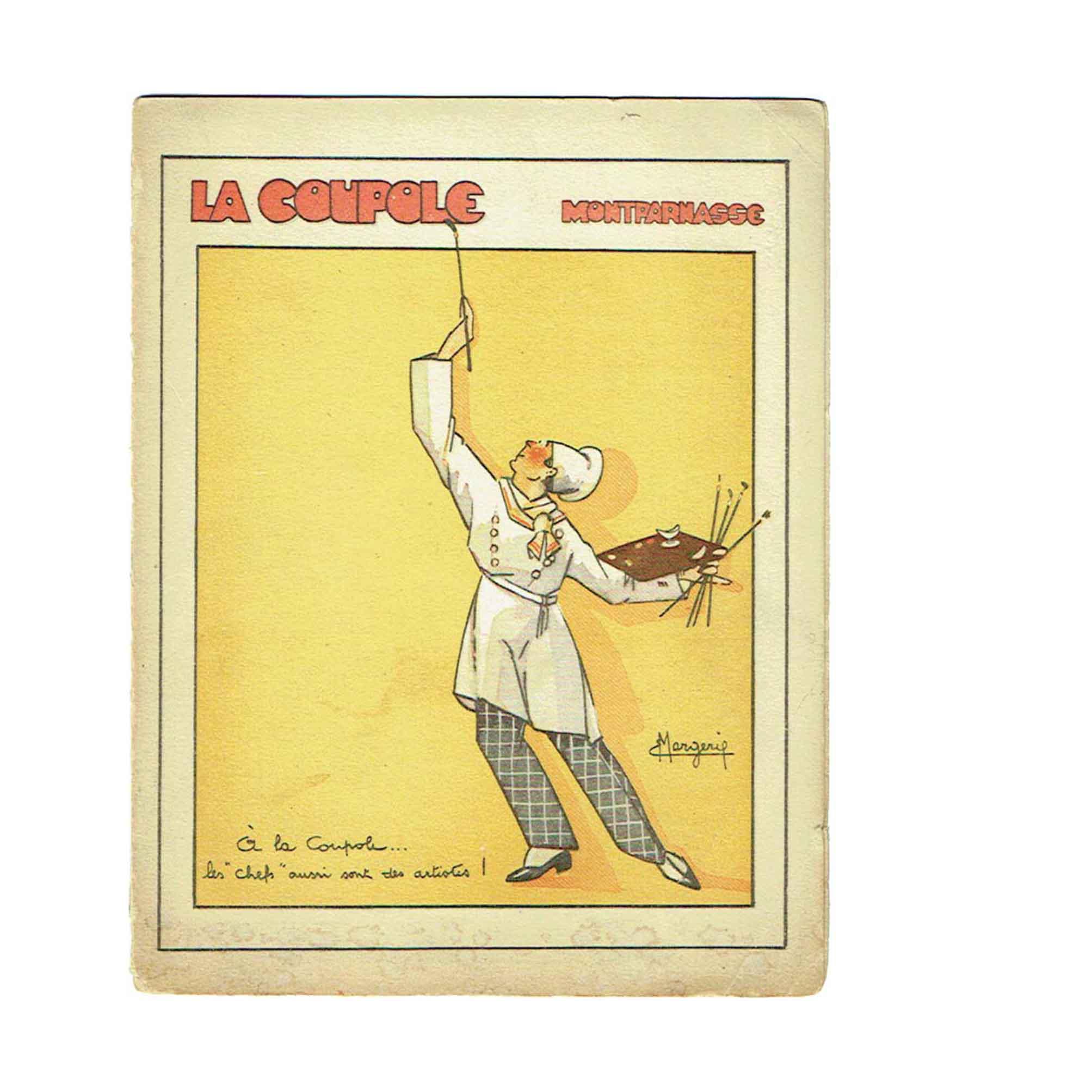 6086 La Coupole Paris Menue Card Margerie 1930s 1967 Cover recto free N